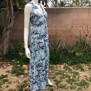 New Shoreline Metallic Printed Maxi Dress.